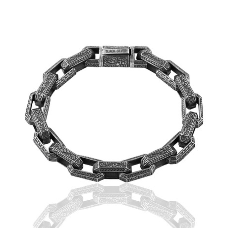 "Hand Inlay Bracelet // Oxide (8"")"