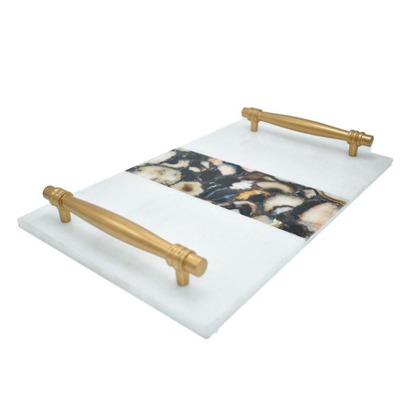 Marble Serving Tray + Handle