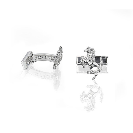 Prancing Horse Cufflinks // Silver