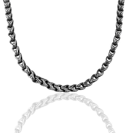 """Special Design Hand Engraved Chain // Oxide (22"""")"""