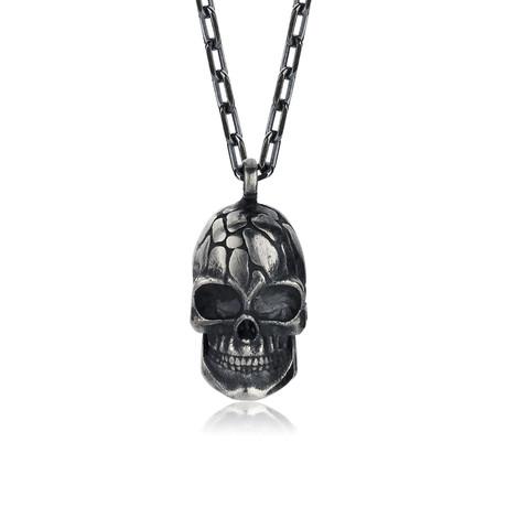 """Special Design Skull Necklace // Oxide (22"""")"""