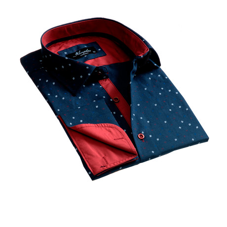 Amedeo Exclusive // Reversible Cuff French Cuff Dress Shirt // Dark Blue (S)