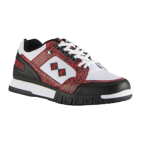 Metros Sneaker // Black + Mars Red + White (US: 7)