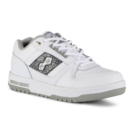 Kings SL Low Leather Sneaker // White + Grey + Ep (US: 7)