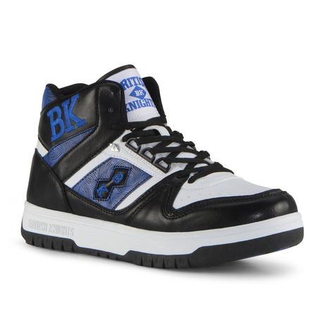 Kings SL Sneaker // White + Black + Snorkel Blue (US: 7)