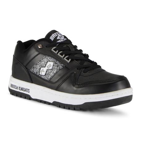 Kings SL Low Sneaker // Black + Grey + White + Ep (US: 7)