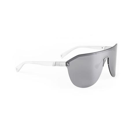 Men's VIBE 05 Sunglasses // White + Silver