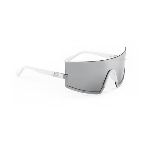 Men's STUN 07 Sunglasses // White + Silver