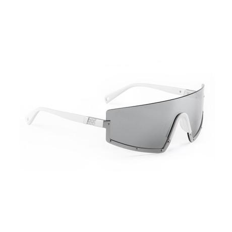 Men's STUN 06 Sunglasses // White + Silver