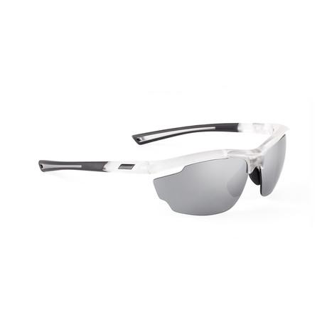 Men's VOLT 05 Sunglasses // White + Silver