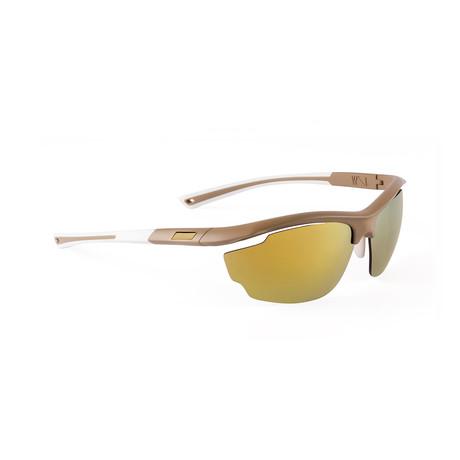 Men's VOLT 07 Sunglasses // Taupe + Gold