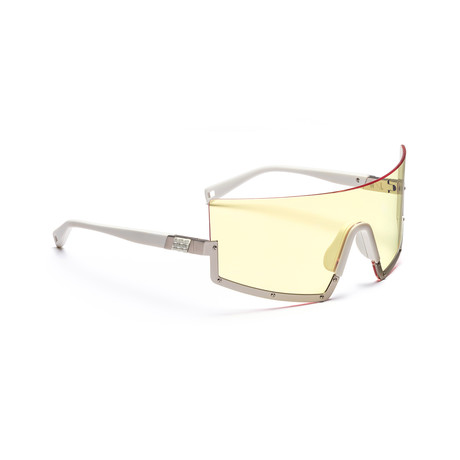 Men's STUN 03 Sunglasses // White + Yellow