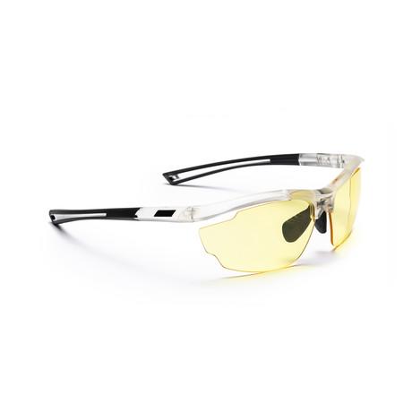 Men's VOLT 04 Sunglasses // White + Yellow