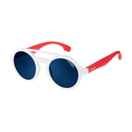 Carrera // Men's Carrerino 19 07Dm Sunglasses // White + Red + Blue