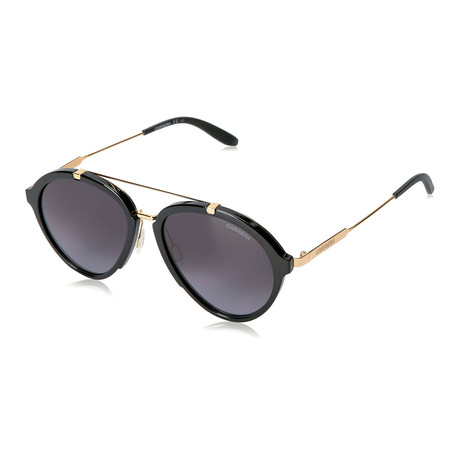 Carrera // Men's 125/S Sunglasses // Black Gold + Gray Gradient