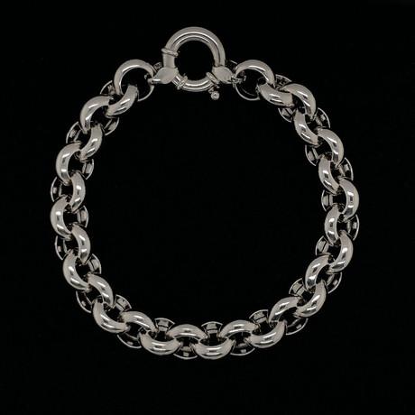 Solid Sterling Silver Rolo Link Bracelet // 11mm