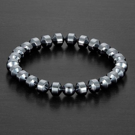 Hematite Stretch Bracelet // Gray