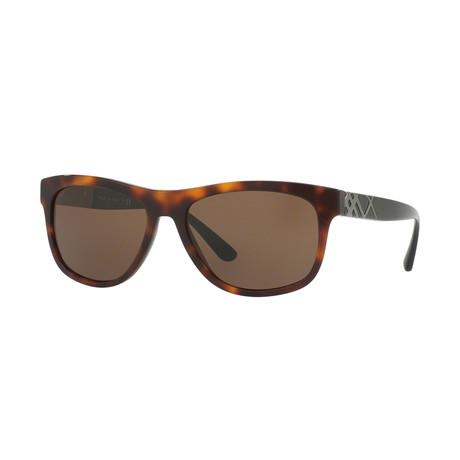 Burberry // Men's Wayfarer Sunglasses // Havana + Brown
