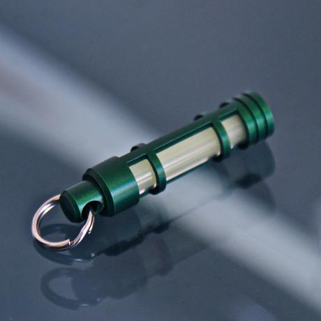 TEC A3 Aluminum Glow Fob // Green Anodize (Green Glow)