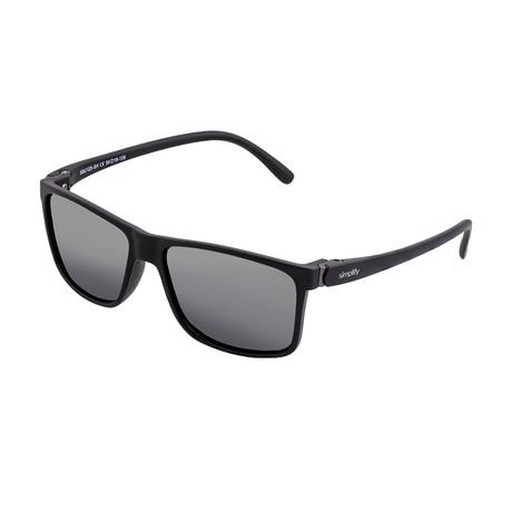 Ellis Polarized Sunglasses (Gloss Black Frame + Black Lens)
