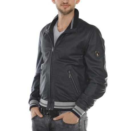 Gus Reversible Leather Jacket // Navy (Euro: 46)
