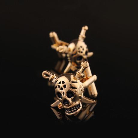 Exclusive Cufflinks + Gift Box // Gold Pirates
