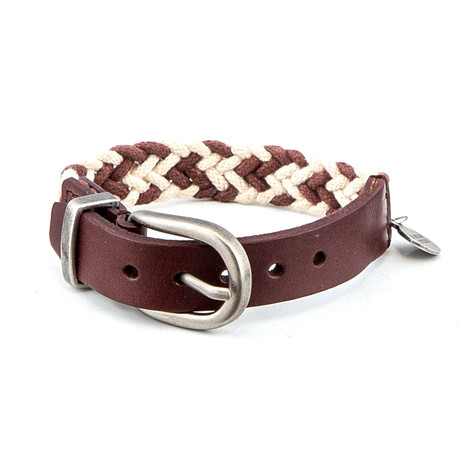 Amadore Leather Bracelet // Brown + Cream