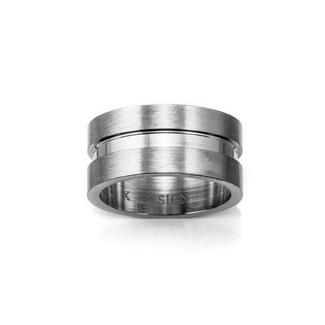 Gisl Double Band Ring // Silver (Size 8)