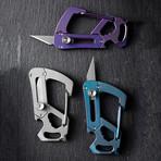Carabiner Multi Tool Knife (Silver)