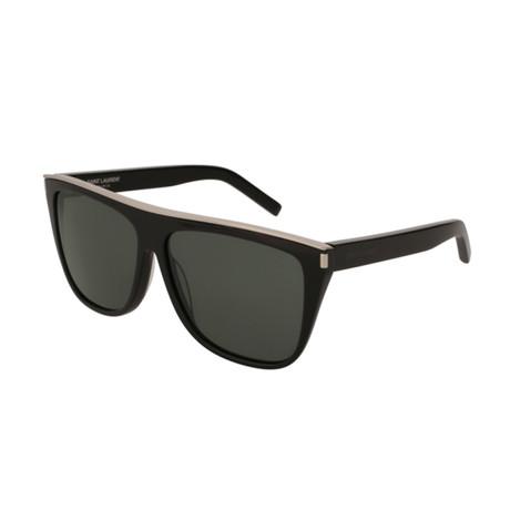Saint Laurent // Unisex Square Sunglasses // Black II