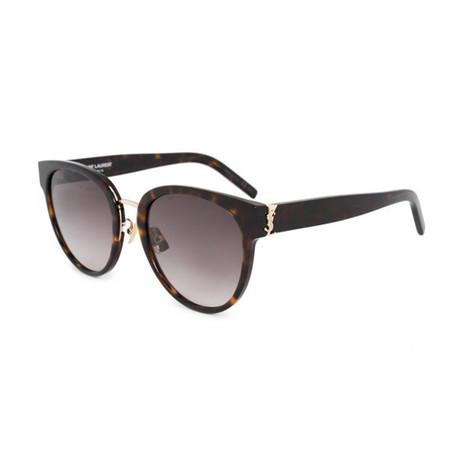 Saint Laurent // Unisex Round Sunglasses // Havana Brown IV