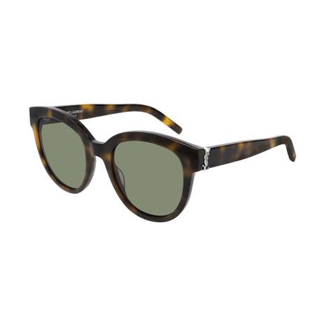 Saint Laurent // Unisex Round Sunglasses // Havana Brown III