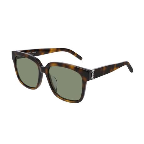 Saint Laurent // Unisex Round Sunglasses // Havana Brown V