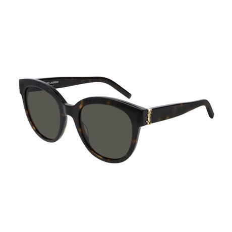 Saint Laurent // Unisex Round Sunglasses // Havana Brown II