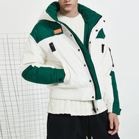 Unstoppable Force Hooded Down Jacket // White (S)