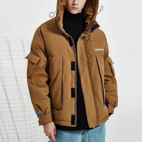 Modern Chic Down Jacket // Brown (S)