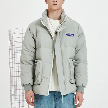 Nothing Down High Collar Down Jacket // Gray (S)