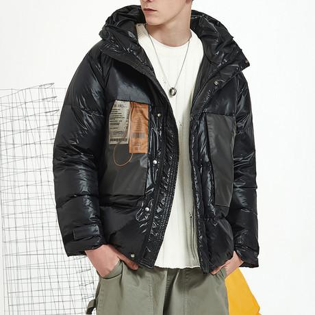Heat Up Hood Down Jacket // Black (S)