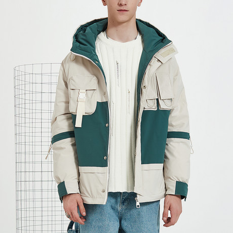 Nothing Down Double Color Down Jacket // Cream (S)