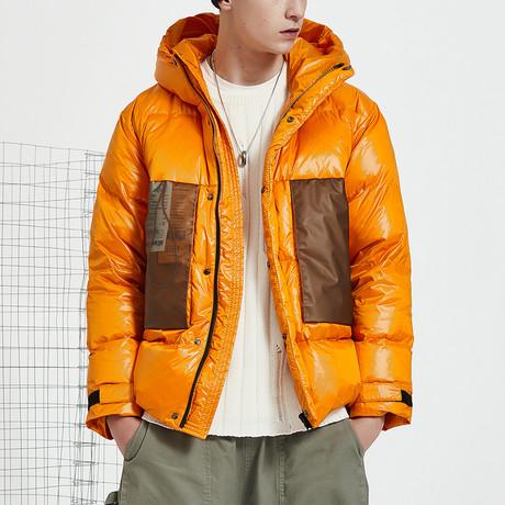Heat Up Hood Down Jacket // Orange (S)