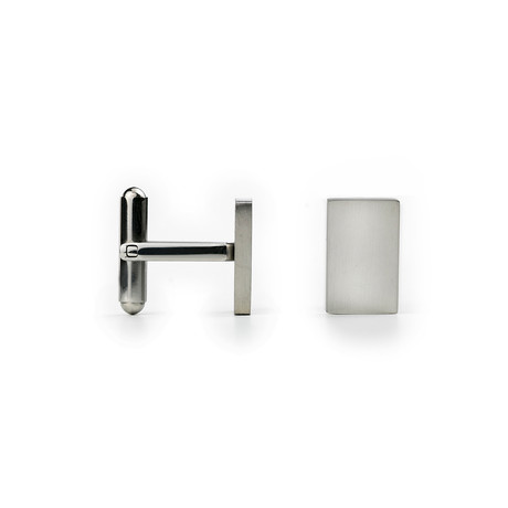 Rectangle Infinity Cufflinks (Silver)