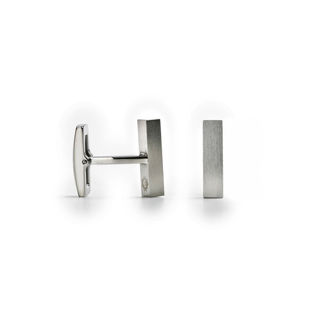 Brushed Bar Cufflinks // Silver