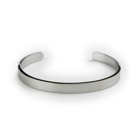 Stainless Steel Bangle // Silver Tone