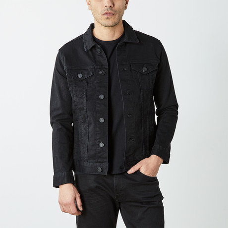 Casual Denim Trucker Jacket // Jet Black (S)