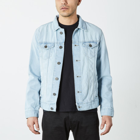 Casual Denim Trucker Jacket // Bleach Wash (S)