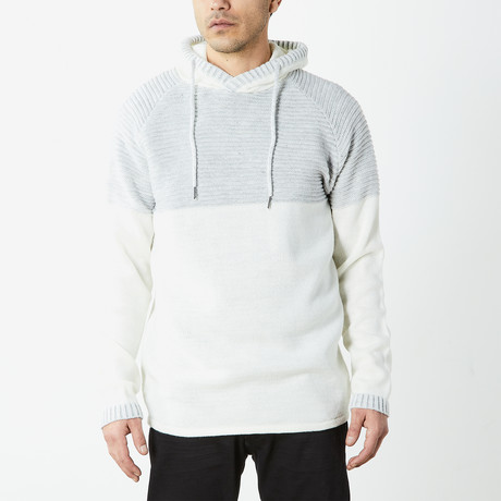 Two Toned Hooded Sweater // Oatmeal Heather (S)