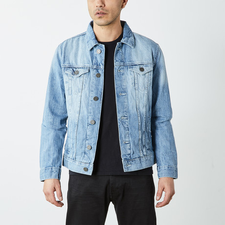 Casual Denim Trucker Jacket // Light Blue (S)