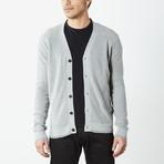 Classic Button Down Cardigan // Grey (M)