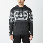 Aztec Hooded Pullover Sweater // Black (L)