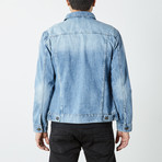 Casual Denim Trucker Jacket // Light Blue (L)